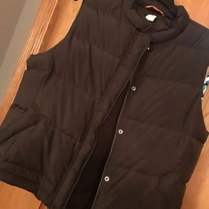 J. Crew Brown Puffer Vest